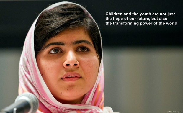 Making a Wish for Action on Global Education: Malala Yousafzai Addresses Youth Assembly at UN on Her Birthday, 12 July