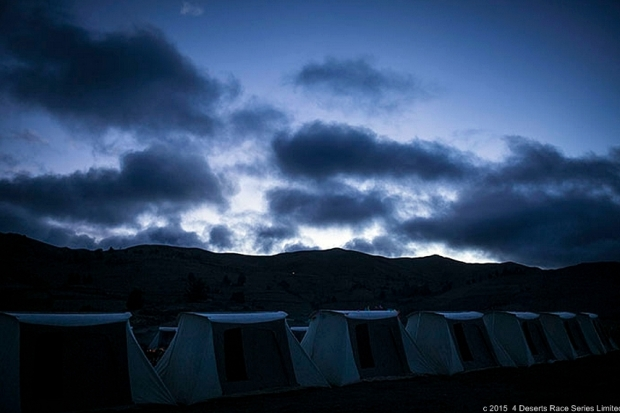 The camp site at night