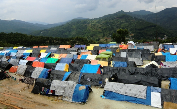 Over 400 families affected by the earthquake now reside in the refugee camps in Dhading