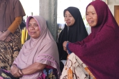 These three sisters worked as fishermen before the disaster, but now they are not sure how to restore their livelihoods