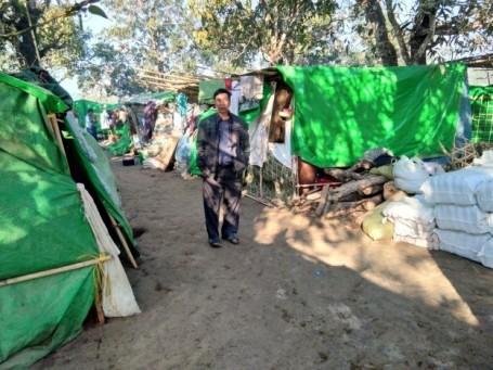 Campsite visit by Pastor Aung Din