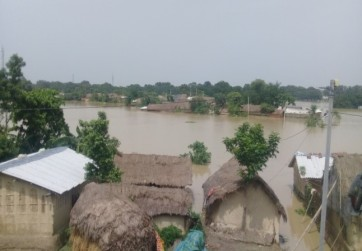 Large areas of Bihar have been flooded